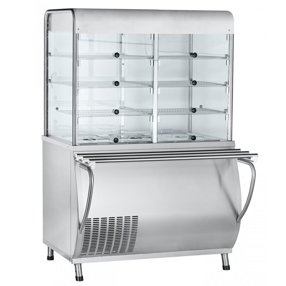 Прилавок-витрина для холодных закусок ПВВ(Н)-70М-С-01-НШ