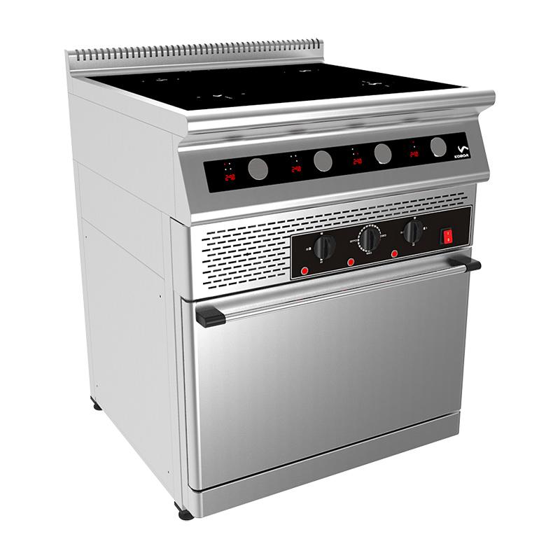 Плита индукционная 4-х конфорочная с жарочным шкафом I7-4S0