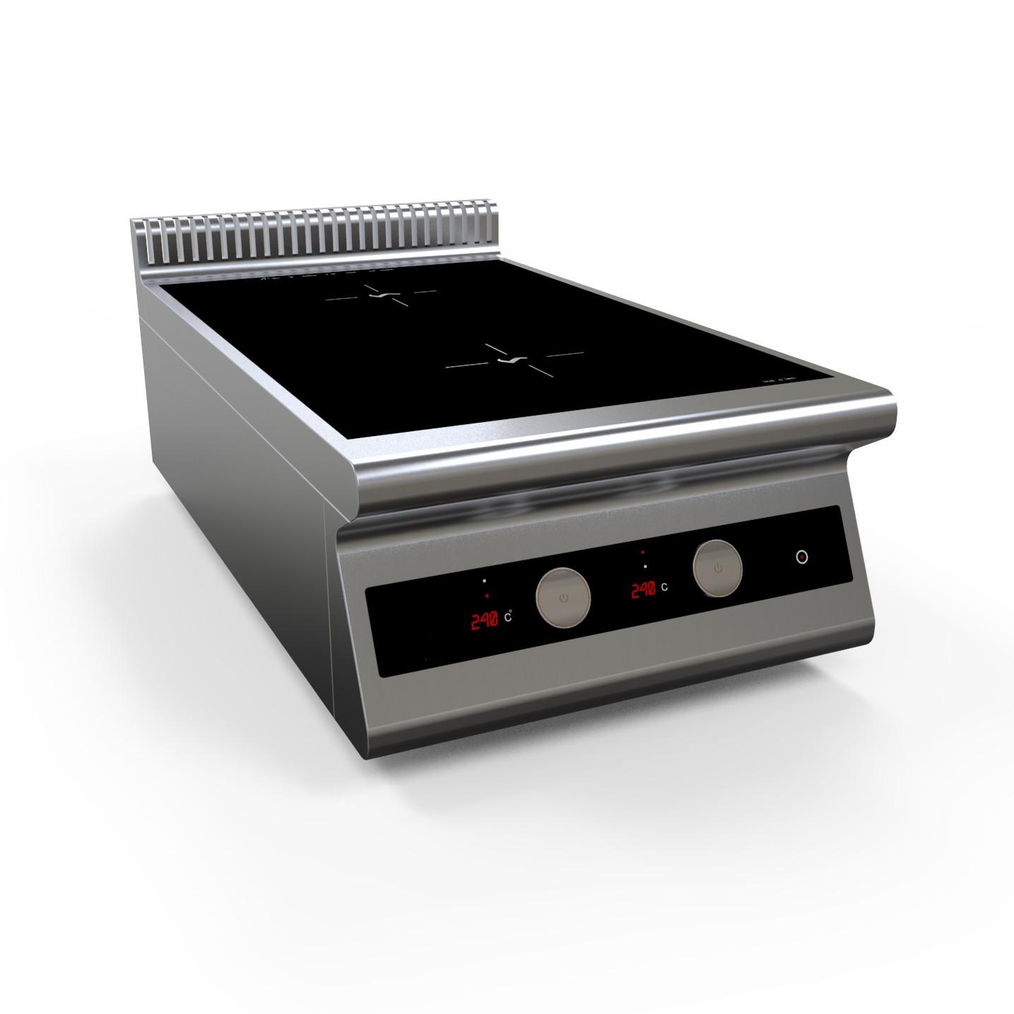 Плита индукционная двухконфорочная I7-2T настольная серия 700