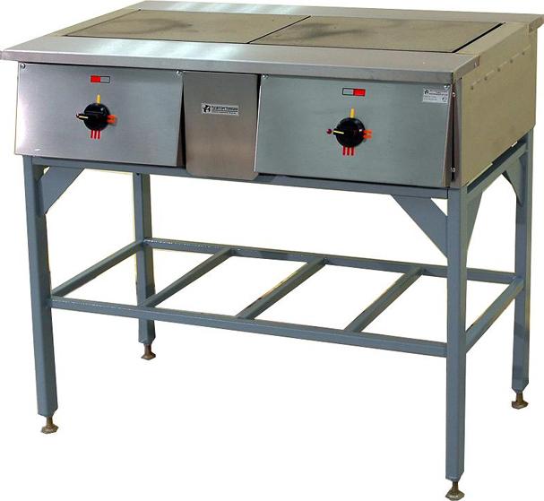 Плита электрическая 2-х конфорочная ПЭ-0.24Н на подставке