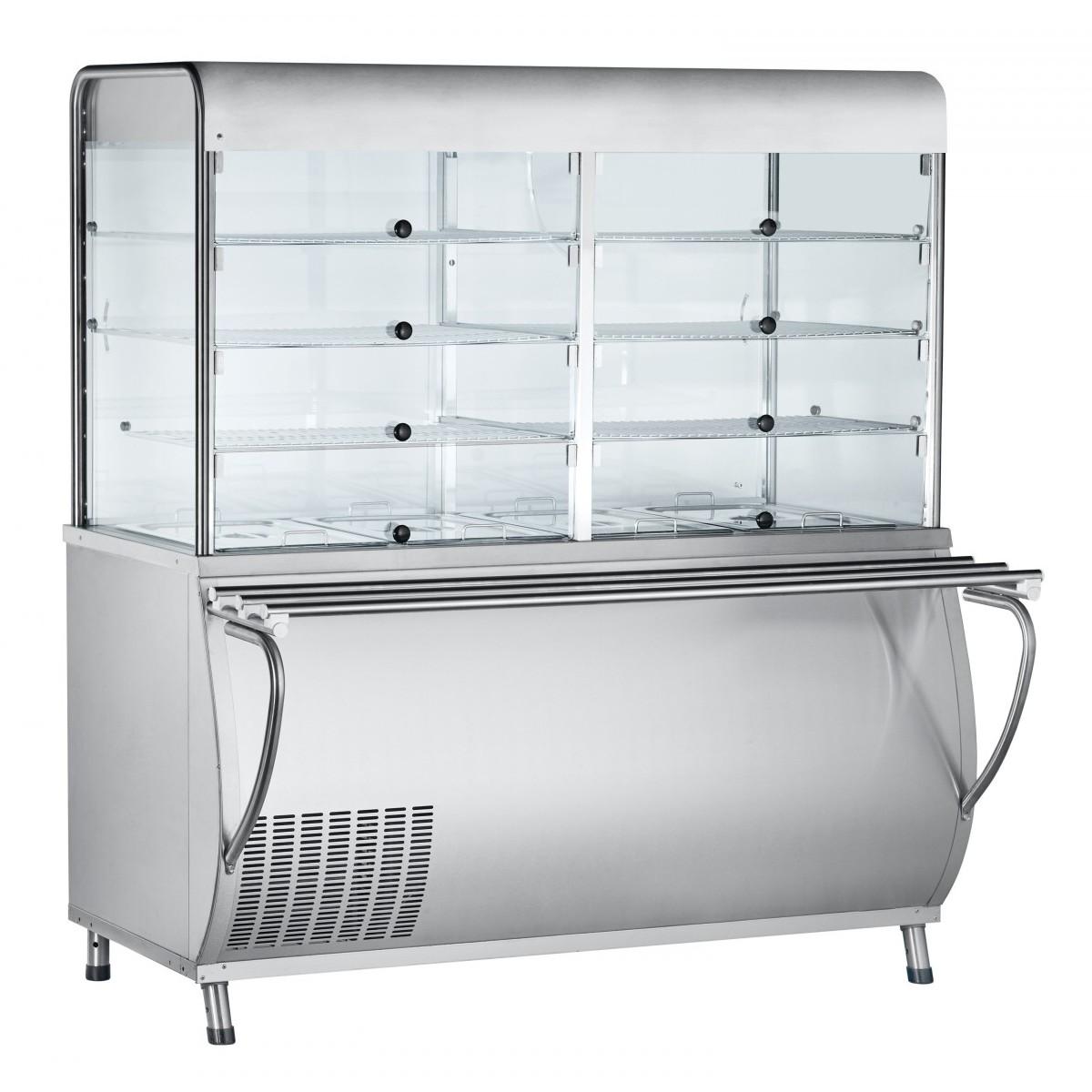 Прилавок-витрина для холодных закусок ПВВ(Н)-70М-С-НШ