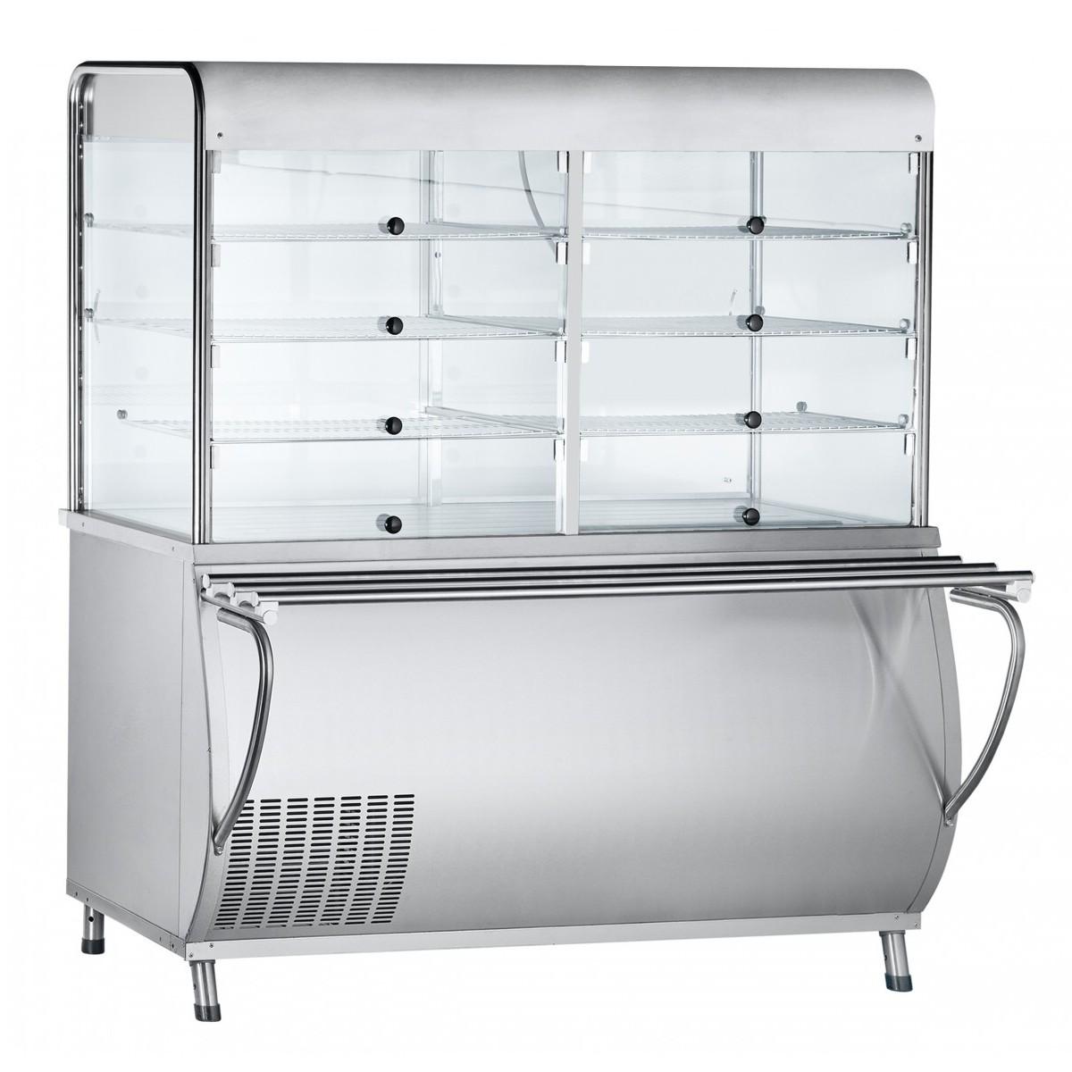 Прилавок-витрина для холодных закусок ПВВ(Н)-70М-С-ОК